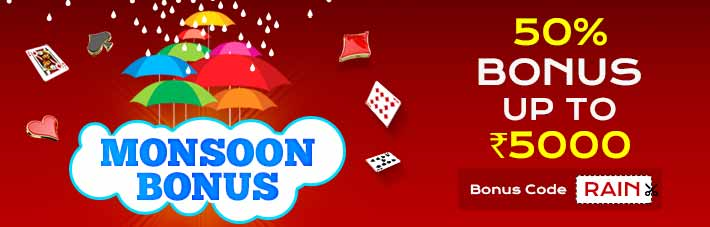 Monsoon bonus at Rummy Millionaire