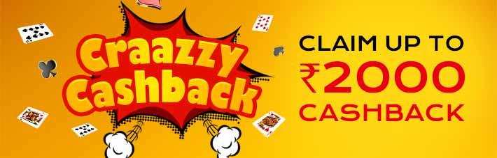 Craazy Cashback promotion