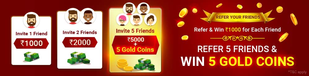 cash rummy refer friends gold coins